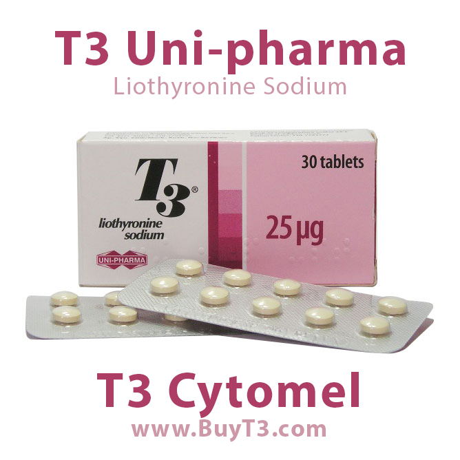 T3 Cytomel Liothyronine Sodium Uni-pharma greece buyt3.com