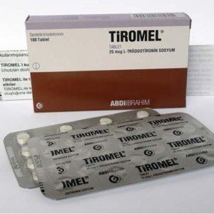 Buy Tiromel T3 by Abdi Ibrahim Liothyronine Sodium 100 tablets 25 mcg/tab L-Triiodotironin